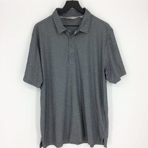 Travis Mathew Silver Gray Short Sleeve Polo Shirt
